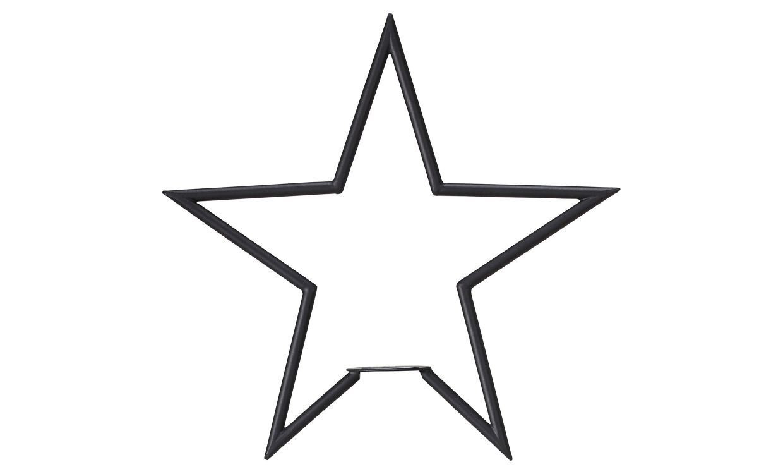 TINDRA Stjärna Svart 35 cm