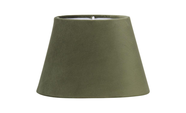 OVAL Lampskärm Sammet Grön