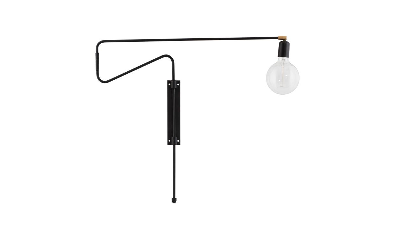 SWING Vägglampa Svart 70 cm