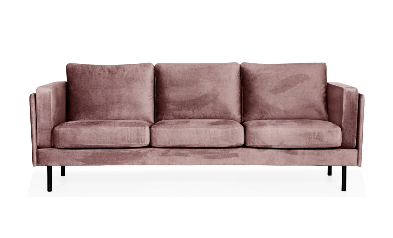 Berömda EKSUND 3-sits Velvet Rosa - Shoppa hos SoffaDirekt FR-49