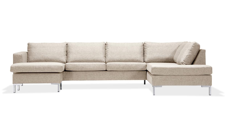 FOCUS U-soffa Höger Beige | U-Soffor thumbnail