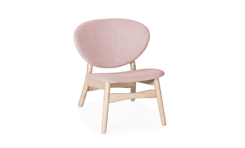 SMÅVIK Loungefåtölj Rosa