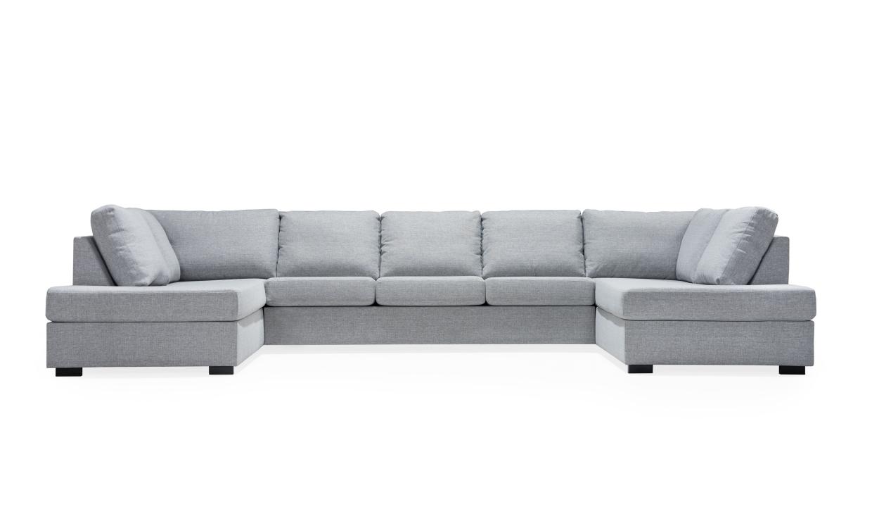 LINDÖ U-soffa XXL Ljusgrå | U-Soffor