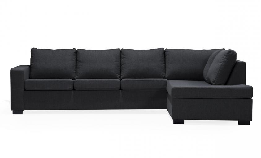 ÖLAND L-soffa Höger Svart | Soffor