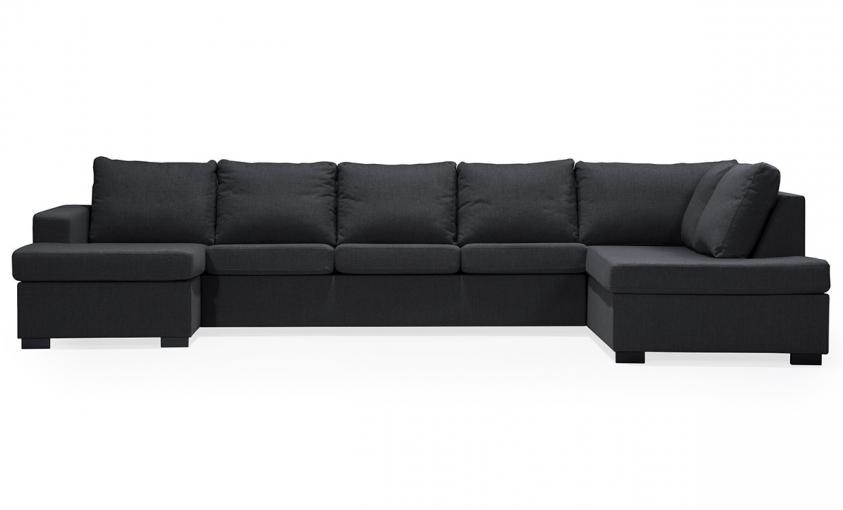 ÖLAND U-soffa XL Höger Svart thumbnail